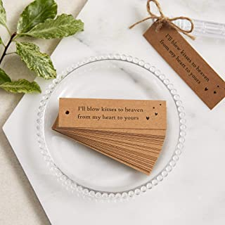 Angel & Dove 25 Kraft Bubble Funeral Favour Tags with Jute Twine - for funeral, celebration of life, memorial ...