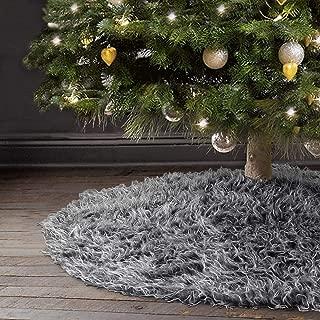 Best gray faux fur tree skirt Reviews