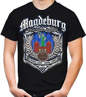 uglyshirt87 Für Immer Magdeburg Männer und Herren T-Shirt | Sport Fussball Stadt Fan