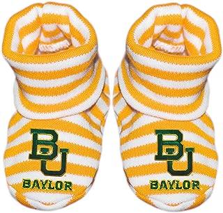 Baylor University Newborn Baby Striped Bootie Sock