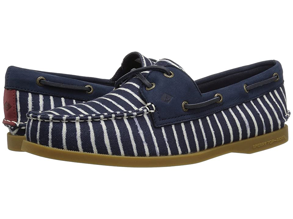 Sperry A/O Indigo Stripe (Navy) Women