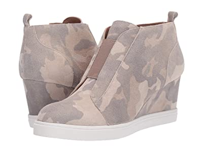 LINEA Paolo Felicia Wedge Sneaker (Coffee/Cream/Tan Suede) Women
