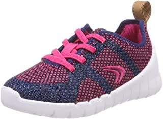 Clarks Girl's Sprint Flux. Navy/Raspberry Sports Shoes