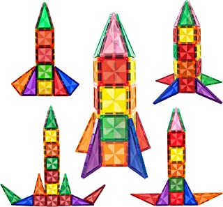 PicassoTiles 30 Piece Magnetic Building Blocks Mini Diamond Series Travel Size On-the-Go Magnet Construction Toy Set STEM ...