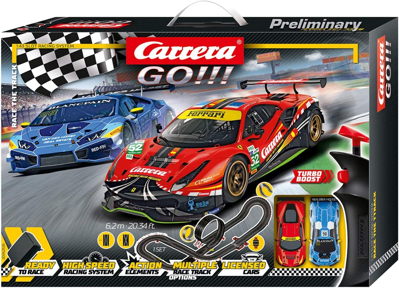Carrera Go Highway Action Racing Track Set 20062493 Spielzeug