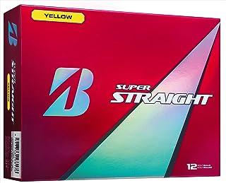 BRIDGESTONE(ブリヂストン) ゴルフボール SUPER STRAIGHT 1ダース( 12個入り) イエロー STYX