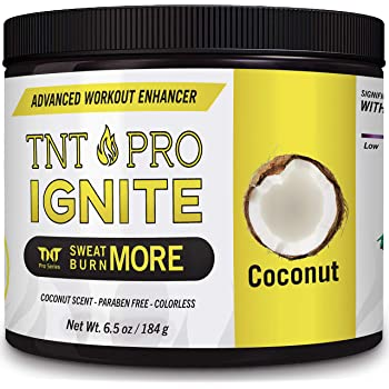 Sweat Cream & Slimming Cream with Coconut Oil for Weight Loss for Women & Men - Slim Cream & Workout Enhancer by TNT Pro Ignite - Tightening Cream & Sweat Gel for Stomach Weight Loss & Belly Fat