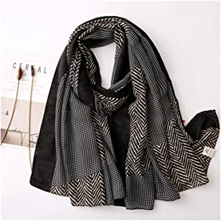 scarf Ladies Scarf Winter Warm Viscose Shawls and Wraps Printed Women Hijab Scarf Soft (Color : 1)