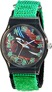 Disney Kids' W001712 Cars Analog Watch With Green Band