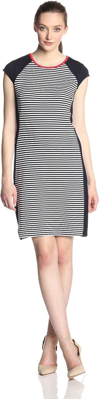 Karen Kane Women's Exposed Back Zipper Contrast Dress