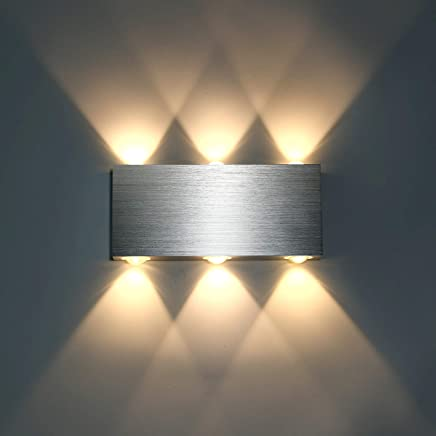 Lightess Applique Murale LED 6W Intérieur Lampe Murale Moderne Carré Up  Down En Aluminium Eclairage Décoration