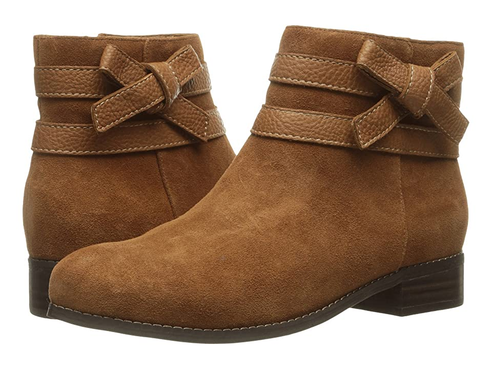 Trotters Luxury (Tan Cow Suede/Cognac Tumbled) Women