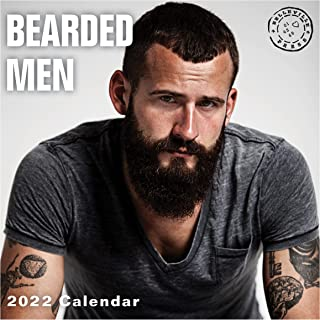2022 Bearded Men Wall Calendar by Bright Day, 12 x 12 Inch, Hot Sexy Pinup Lumberjack Manly