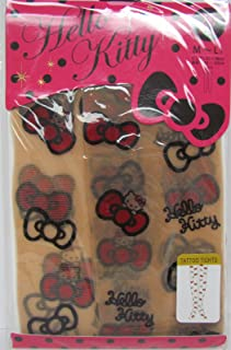Hello Kitty Tattoo Tights Stocking (Size for M-L) Red Ribbons