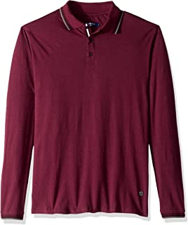 Stone Rose Men's Long Sleeve Speckle Knit Polo