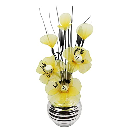 Dark Grey Vase With Yellow And Cream Artificial Flowers, Ornaments For  Living Room, Window