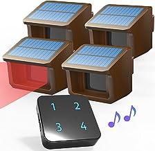 Driveway Alarm System- Solar Driveway Alarms- 3 Adjustable Sensitivities-Fully Weatherproof Outdoor Motion Sensor&Detector...