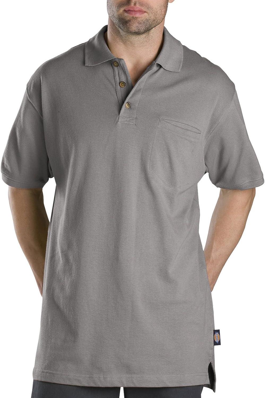 Dickies Men's Big Short-Sleeve Mini-Pique Polo Shirt