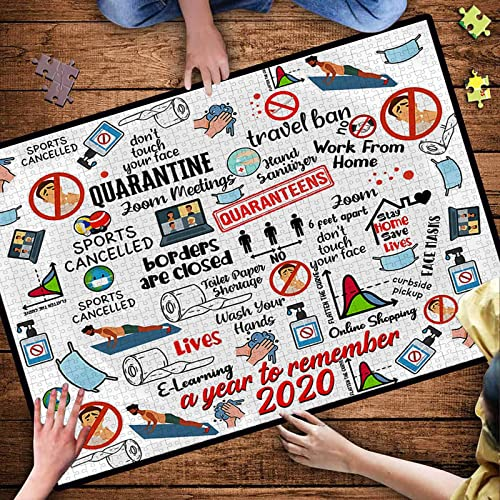 popular OPTIMISTIC Puzzle for Adults 1000 Pieces -2020 Quarantine Themed Puzzles - DIY Puzzle Game Collection - 1000 outlet online sale Pieces Jigsaw Puzzle, 27x19In, Creative Holiday Decor to Memorialize This new arrival Difficult Year online