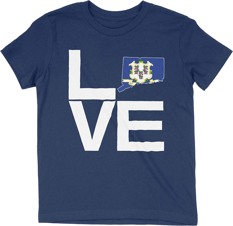 HARD EDGE DESIGN Girl's Youth Love Connecticut T-Shirt