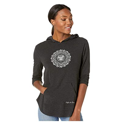 Life is Good Supreme Hooded Pullover (Night Black) Women