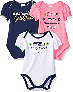 NFL Baby-Girl 3 Pack Bodysuit