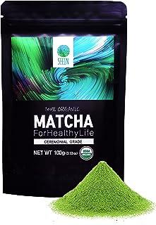 SEEIN Organic Matcha Ceremonial Grade 100g - Authentic Korean Premium Green Tea Powder - 100% All Natural Pure Unsweetened...