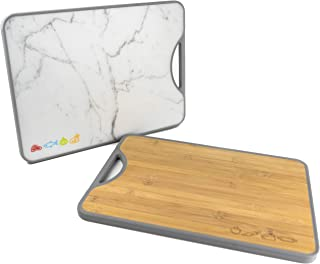Double-sided Bamboo Poly Cutting Board - Easy to Clean - No Cross-Contamination - BPA Free
