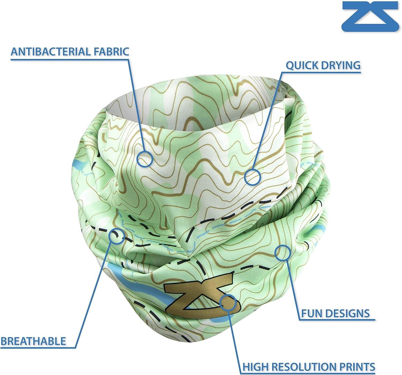 Zensah Seamless Neck Gaiter - Multifunctional Headwear, UV Sun Guard, Scarf, Face Mask, Warmer, Headband