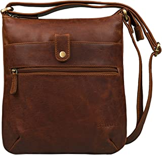 STILORD 'Lina' Elegante Vintage Damen Umhängetasche Schultertasche klein Abendtasche Klassische Handtasche 10.1 Zoll Table...