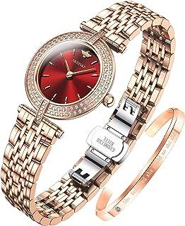 Original Swiss Quartz Rose Gold Watches for Womens...