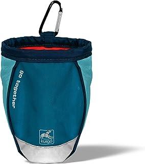 Kurgo Go Stuff-It foderväska hundar, hundtillbehör, godispåsar – Inkluderar klämma och karbinhake färg: blå