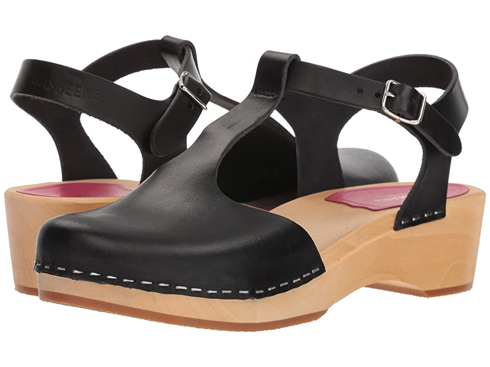 Swedish Hasbeens T-Strap Debutant (Black) Women