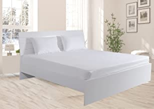 Hotel Linen Box Sateen King Size 200 x 200 cm Fitted Sheet, Off White