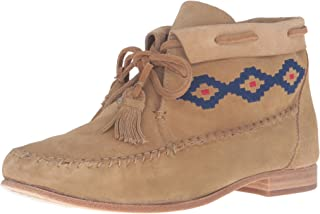 Women's Moccasin Emroidered Ankle Bootie
