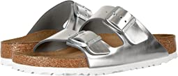 Metallic Silver Leather