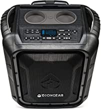 ECOXGEAR EcoBoulder+ GDI-EXBLD810 Rugged Waterproof Floating Portable Bluetooth Wireless 100 Watt Speaker and PA System (Gray)