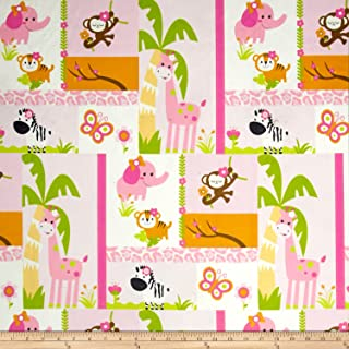 Michael Miller Minky Jungle Princess Pink Fabric by The Yard