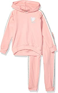 DKNY Girls' Fleece Hoodie and Jogger Set