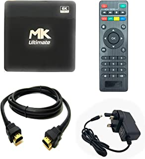 Mk Ultimate Android Smart TV Box-Intelligent 6k Ultra HD Media Player works with TV Projector-Powered by Android 10 Versio...