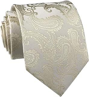 Men's Paisley Ties Jacquard Woven Handmade Slim Unique Designer Formal Neckties