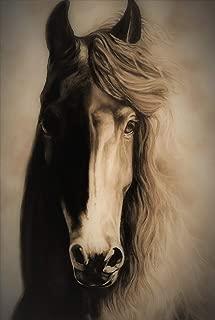 charcoal horse art
