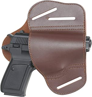 1911 Holster,Outside The Waistband Leather Gun Holster Fits 1911 Style Handguns