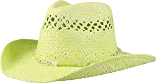 Enimay Men's Womens's Western Outback Straw Canvas Cowboy Hat