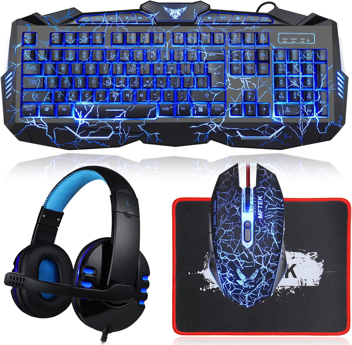 Gaming Keyboard and Mouse Challenge Popular brand the lowest price Combo Backli Crack MFTEK with Headset