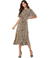 ESCADA - Leopard Printed Silk Flowy Dress
