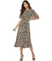 ESCADA - Leopard Printed Silk Flowy Dress