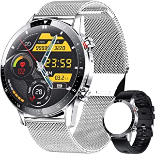 ieverda Montre Connectée,Montre Intelligente Homme IP68Etanche Bracelet Connecté Cardio Podometre Smartwatch Sport Fitness...