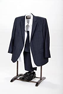Homenetics Deluxe Hardwood Clothes Valet Stand (Red Mahogany)