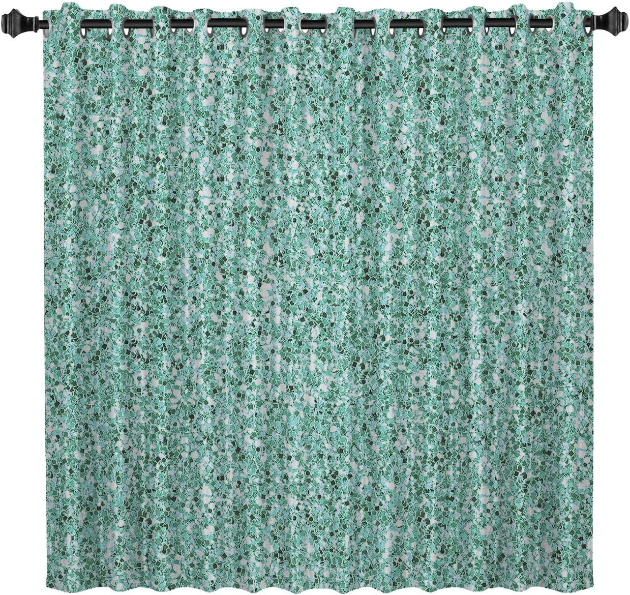 Blackout Room Darkening Curtains 52 by Inch Teal Shine Nippon regular agency 96 Max 72% OFF Green